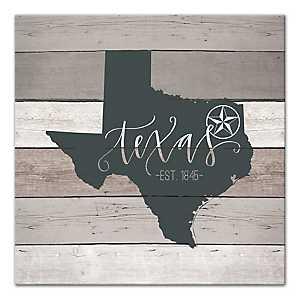 Texas Shiplap Canvas Art Print