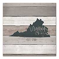 Virginia Shiplap Canvas Art Print