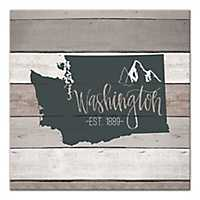 Washington Shiplap Canvas Art Print