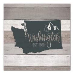 Washington Shiplap Canvas Art Print