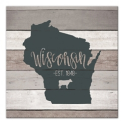 Wisconsin Shiplap Canvas Art Print