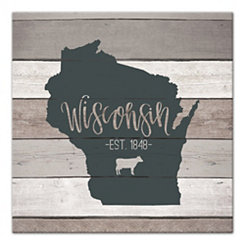 Wisconsin Shiplap Canvas Art Print