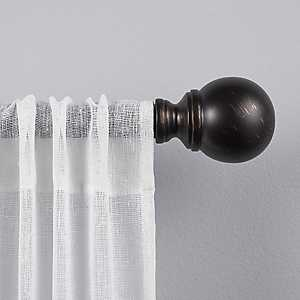 Matte Bronze Sphere Curtain Rod, 72 in.