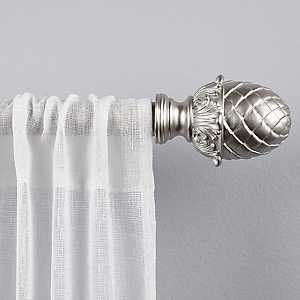 Ava Matte Silver Curtain Rod, 120 in.