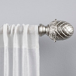 Ava Matte Silver Curtain Rod, 120 in.