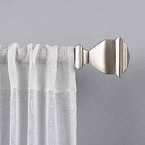 Matte Silver Nathan Curtain Rod, 120 in.