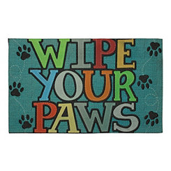 Wipe Your Paws Stitched Doormat