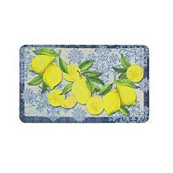 Tuscan Lemon Cushioned Kitchen Mat