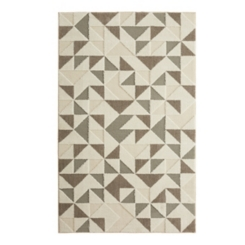Modern Triangles Shag Area Rug, 5x8