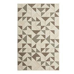 Modern Triangles Shag Area Rug, 5x8
