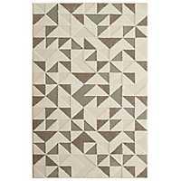 Modern Triangles Shag Area Rug, 8x10