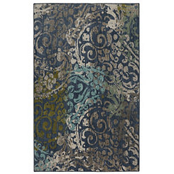 Blue Renee Woven Area Rug, 5x8