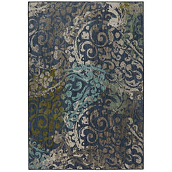 Blue Renee Woven Area Rug, 8x11