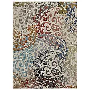 Multicolor Renee Woven Area Rug, 8x11