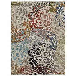 Multicolor Renee Woven Area Rug, 8x11