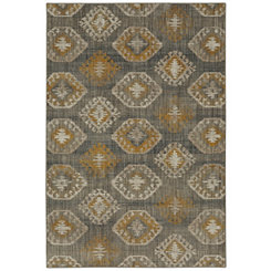 Yellow Ionic Area Rug, 5x8