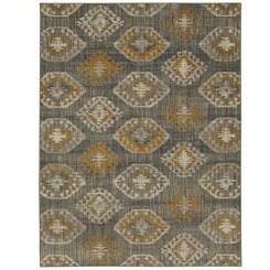 Yellow Ionic Area Rug, 8x11