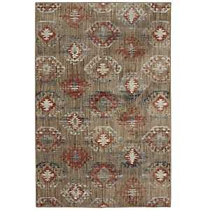 Red Ionic Area Rug, 5x8