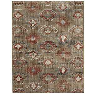 Red Ionic Area Rug, 8x11