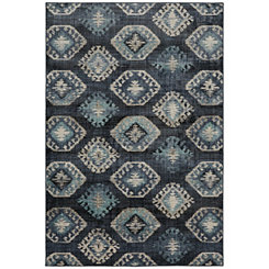 Blue Ionic Area Rug, 5x8