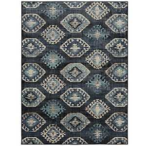 Blue Ionic Area Rug, 8x11