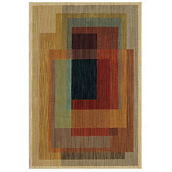 Abstract Illusion Woven Area Rug, 5x8