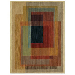 Abstract Illusion Woven Area Rug, 8x11