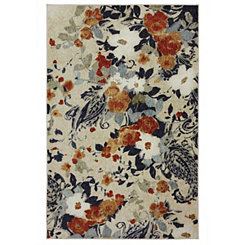 Floral Bunch Area Rug, 5x8