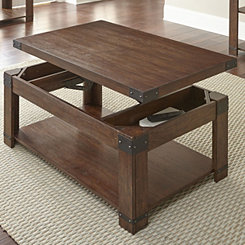 Nolan Lift Top Wood and Metal Accents Coffee Table