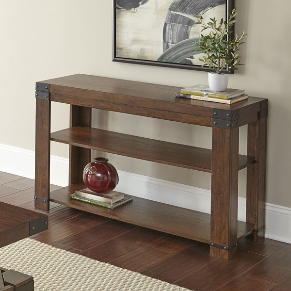 Nolan Cherry Wood Console Table