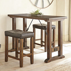 Damon Counter Height Table and Stools 3-pc. Set