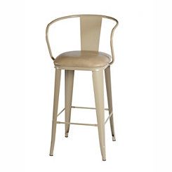 Theodore Beige Metal Bar Stool