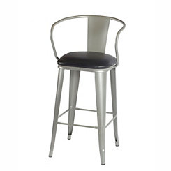 Theodore Silver Metal Bar Stool