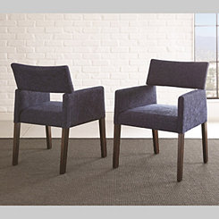 Brayden Navy Accent Chairs, Set of 2