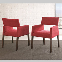 Brayden Red Accent Chairs, Set of 2