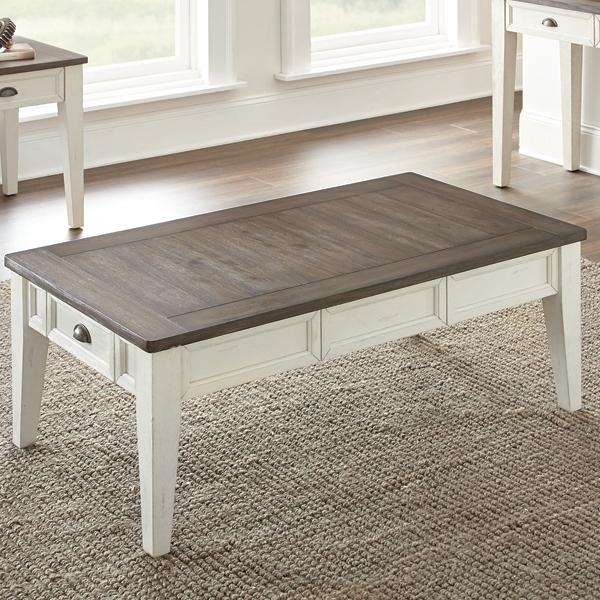 Everly Dark Oak Top Coffee Table Kirklands