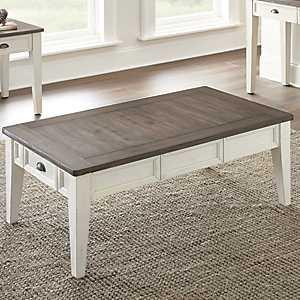Everly Dark Oak Top Coffee Table