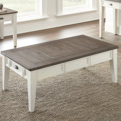 Everly Dark Oak Top Coffee Table