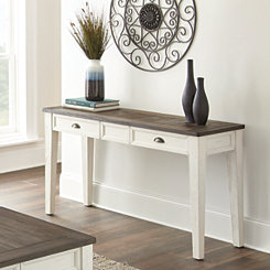 Everly Dark Oak Top Console Table