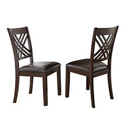Colton Espresso Dining Chairs, Set of 2