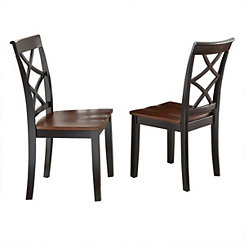 Quinn Double X Dining Chairs, Set of 2