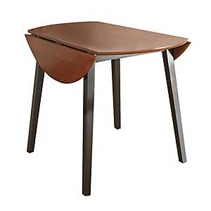 Cherry and Ebony Drop Leaf Anthony Dining Table