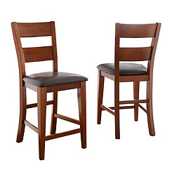 Mateo Ladder Back Counter Stools, Set of 2