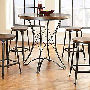 Jaxon Wood and Metal Counter Height Dining Table