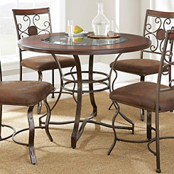 Thornton Round Glass Insert Dining Table