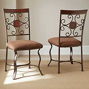 Thornton Scrolled Back Dining Chairs, Set of 2