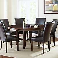 Hughes Round Dark Oak Dining Table
