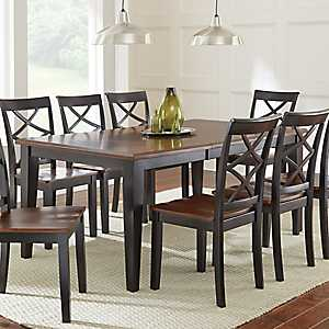Quinn Two-Toned Wood Dining Table