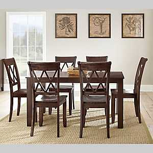 Caden Dark Brown Wood Dining Table