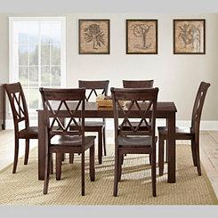 Caden Dark Brown Wood Dining Table
